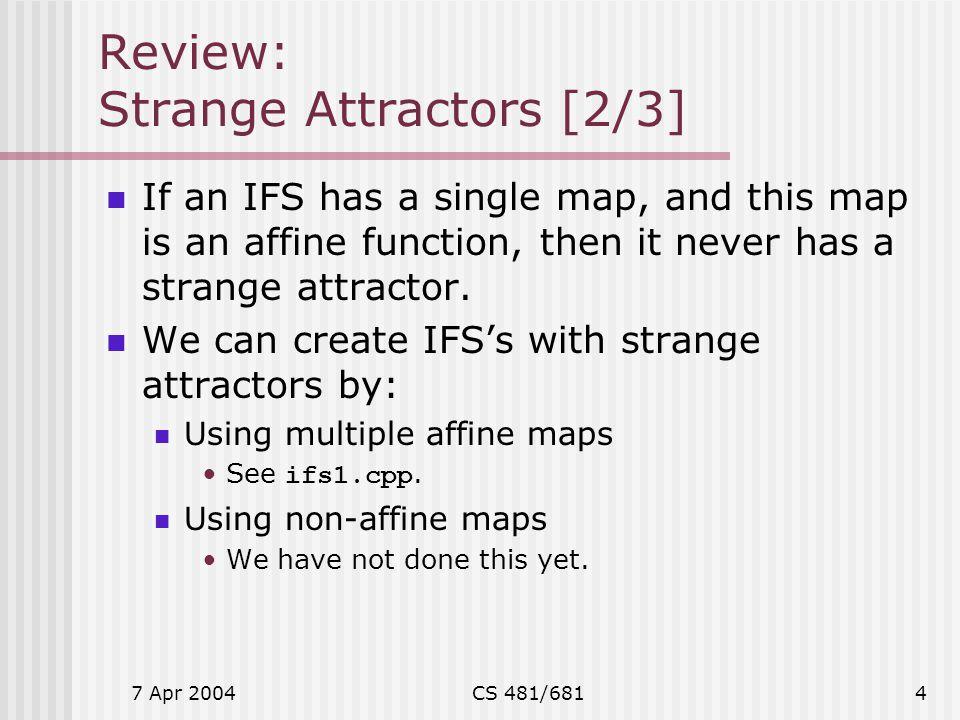 Review: Strange Attractors [2/3]